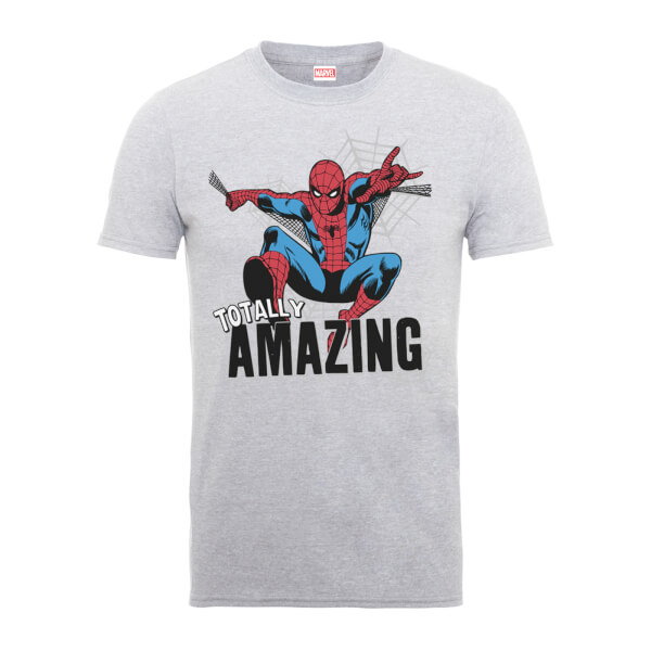 Marvel Comics Spiderman Totally Amazing Men's Grey T-Shirt