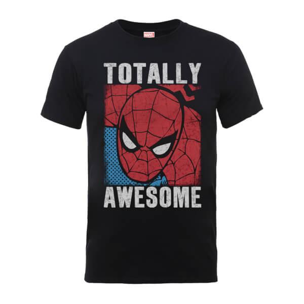 Marvel Comics Spiderman Totally Awesome Men's Black T-Shirt
