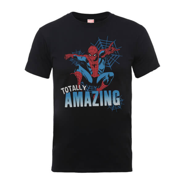 Marvel Comics Spiderman Totally Amazing Men's Black T-Shirt