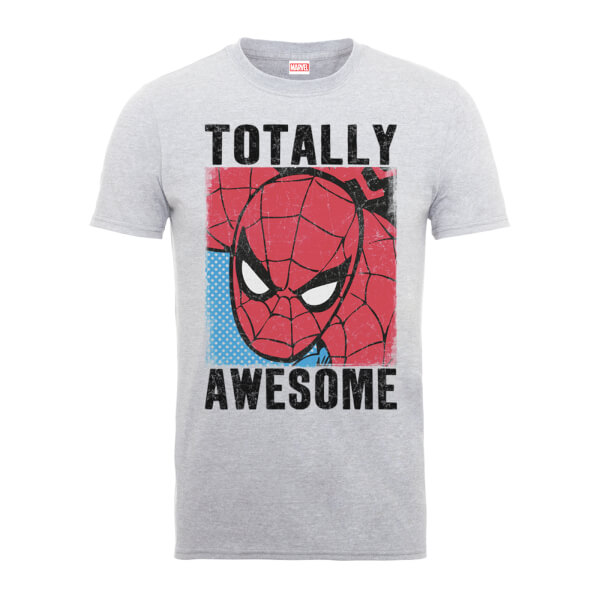 Marvel Comics Spiderman Totally Awesome Men's Grey T-Shirt