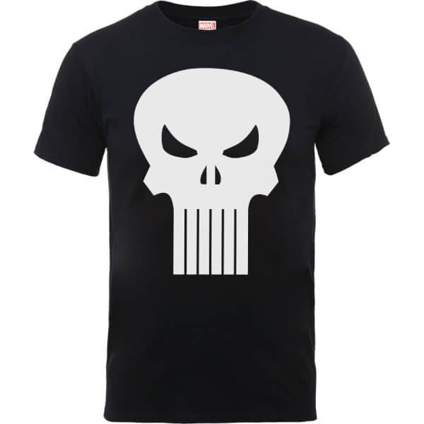 Marvel The Punisher Skull Logo Men's Black T-Shirt