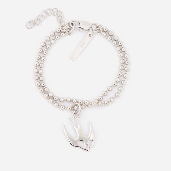 McQ Alexander McQueen Women's Swallow Bracelet - Shiny Nickel