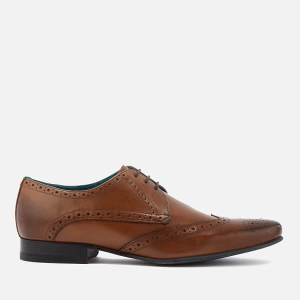 Ted Baker Men's Hosei Leather Wing Tip Brogues - Tan