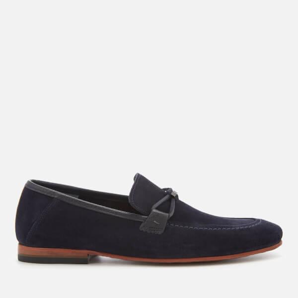 58a43686cf630 Ted Baker Men s Hoppken Suede Loafers - Dark Blue  Image 1