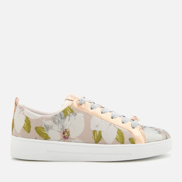 fb3fccc7bb34e Ted Baker Women s Ahfiraj Jacquard Low Top Trainers - Chatsworth Nude   Image 1