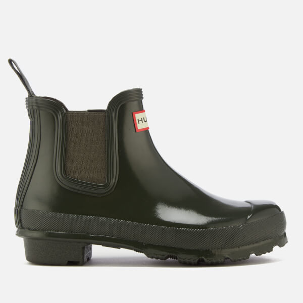 Hunter Women's Original Gloss Chelsea Boots - Dark Olive