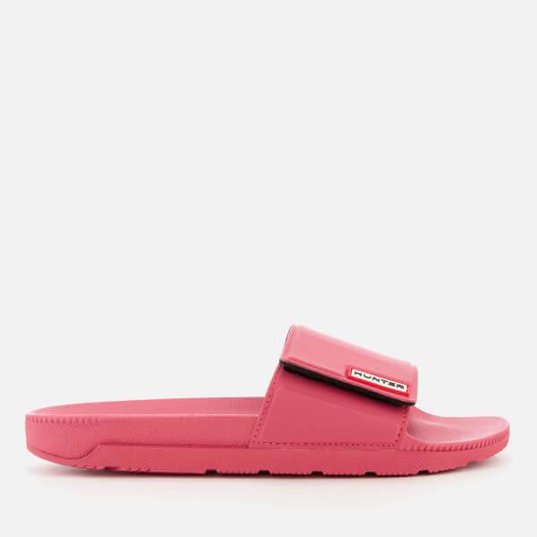 f240ce3cb22fce Hunter Women s Original Adjustable Slide Sandals - Peony Womens ...