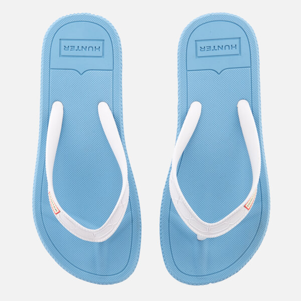 Hunter Women's Original Flip Flops - Forget Me Not/White