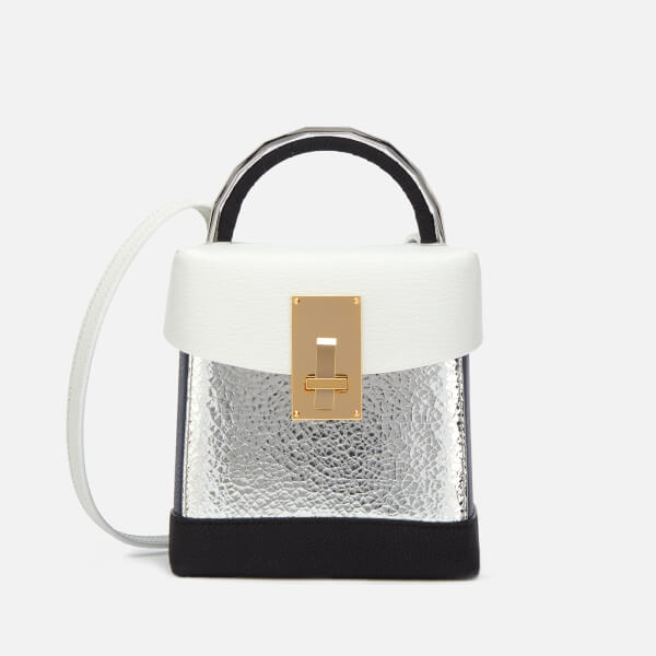 The Volon Women's Box Basic Bag - White & Silver