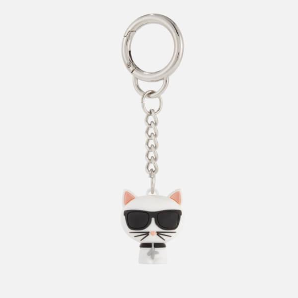 Karl Lagerfeld Women's K/Ikonik 3D Choupette Keychain - White