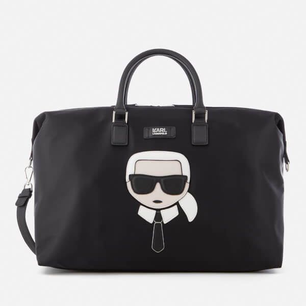 Karl Lagerfeld Women's K/Ikonik Nylon Weekender Bag - Black