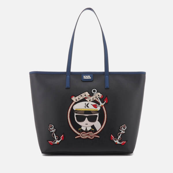 Karl Lagerfeld Women's Captain Karl Shopper Bag - Black