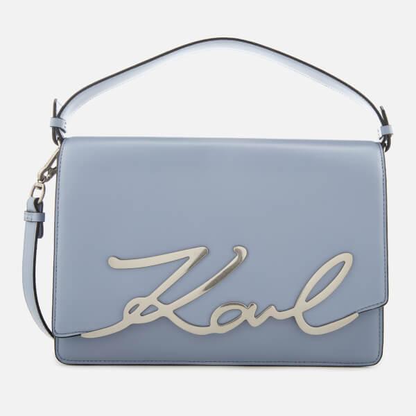 Karl Lagerfeld Women's K/Signature Big Shoulder Bag - Mistic Blue