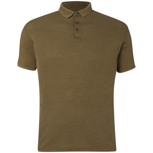 D-Struct Men's Slub Polo Shirt - Khaki