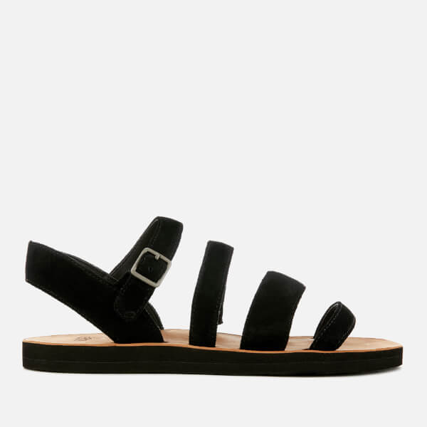 UGG Women's Alyse Strappy Flat Sandals - Black