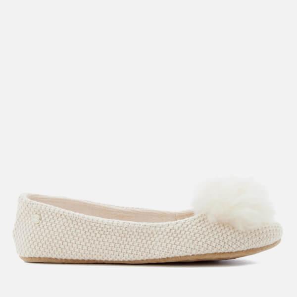 UGG Women's Andi Cotton Knitted Slippers - Cream