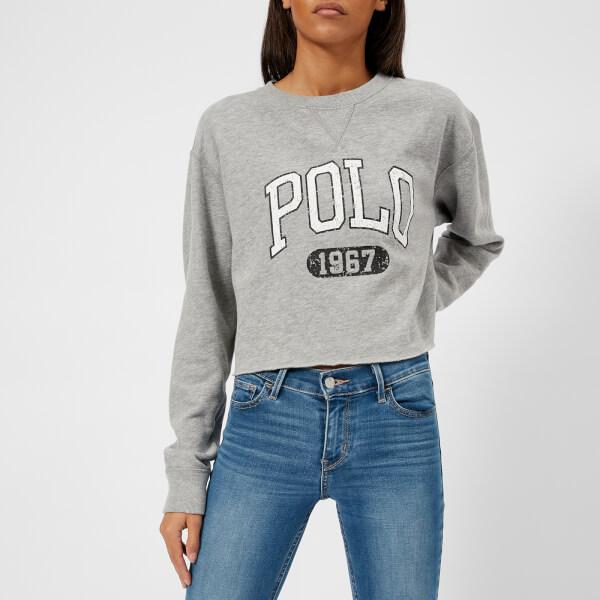Polo Ralph Lauren Women's Cropped Polo Logo Sweatshirt - Grey Heather