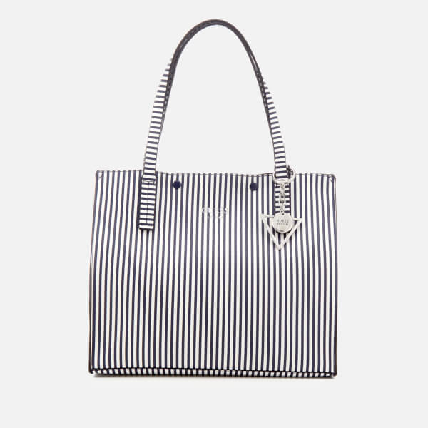 Guess Women's Kinley Carryall Tote Bag - Blue Stripe