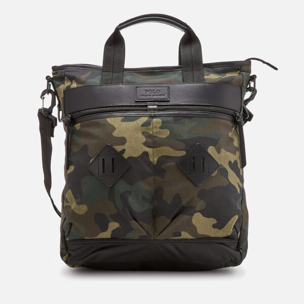 c66706e91d5 Polo Ralph Lauren Men s Canvas Utility Adventure Tote Bag - Olive Camo -  Free UK Delivery over £50
