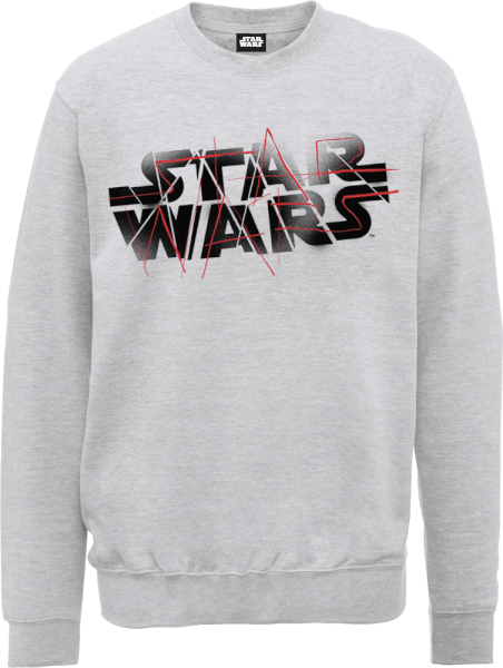 Star Wars The Last Jedi Spray Grey Sweatshirt