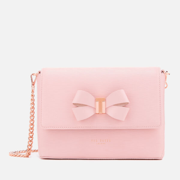4a1bc2266c9aa4 Ted Baker Women s Bow Detail Mini Bark Cross Body Bag - Light Pink  Image 1