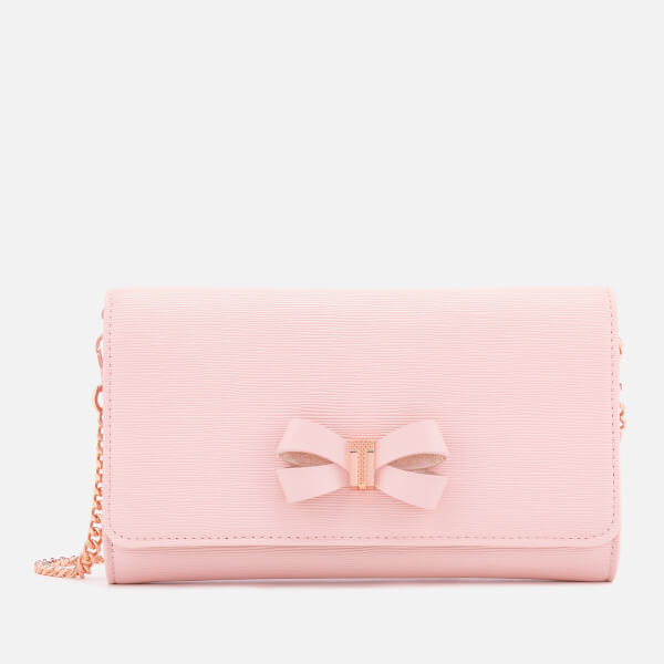 Ted Baker Women's Melisia Bow Matinee Bag with Chain - Light Pink