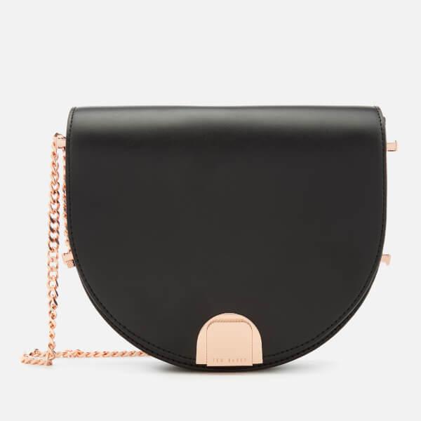 Ted Baker Women's Izzyy Flip Clasp Moon Bag - Black