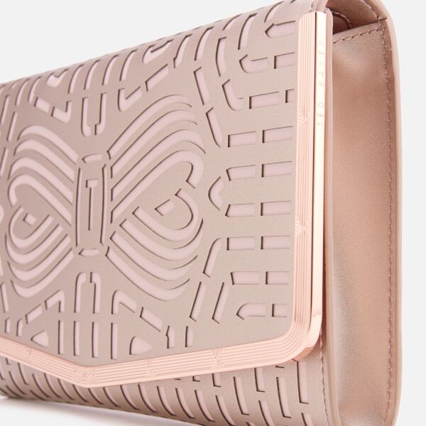 696573f56a6 Ted Baker Women's Bree Cut Out Bow Clutch Bag - Rose Gold: Image 4