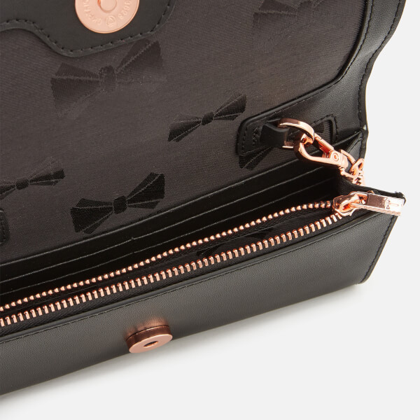 e215c45207 Ted Baker Women's Metal Bar Matinee Bag with Chain - Black: Image 4