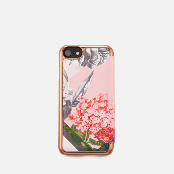 Ted Baker Women s Carolyn Palace Garden iPhone Flip Case - Dusky Pink   Image 1 85532b62d