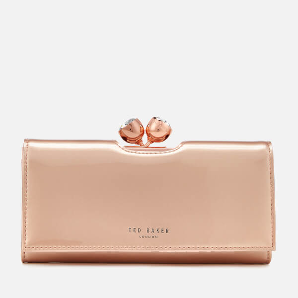 f05b54de5657d2 Ted Baker Women S Honeyy Twisted Bobble Patent Matinee Purse Rose Gold