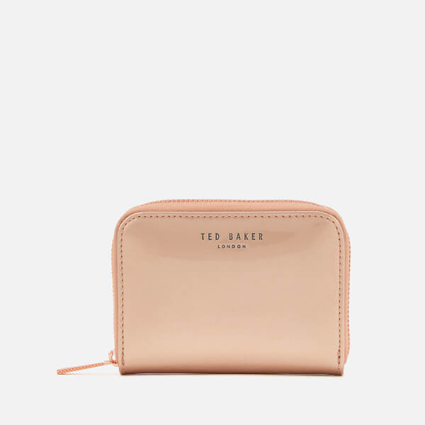 Ted Baker Women's Omarion Patent Zip Around Mini Purse - Rose Gold