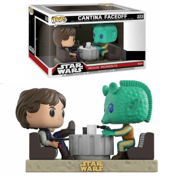 Star Wars Movie Moments Han Solo & Greedo Cantina EXC Pop! Vinyl Figure 2-Pack