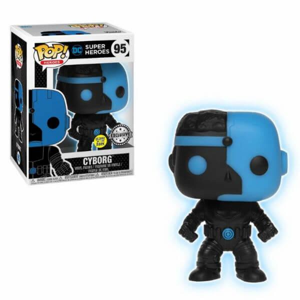 Justice League Cyborg Silhouette EXC Pop! Vinyl Figure GITD