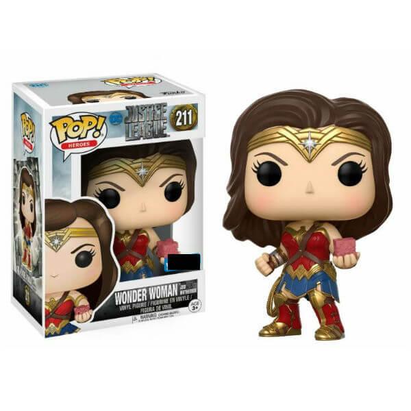 Justice League Wonder Woman with Mother Box EXC Pop! Vinyl Figure