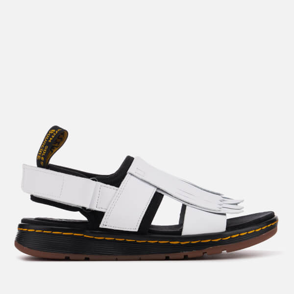 Dr. Martens Women's Rosalind Leather Kiltie Fringe Sandals - White/ - UK 3 yLqVZWL3na
