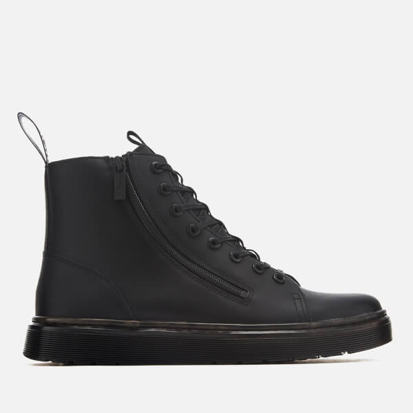 Dr. Martens Men's Talib Zip Softy T Leather 8-Eye Boots - Black