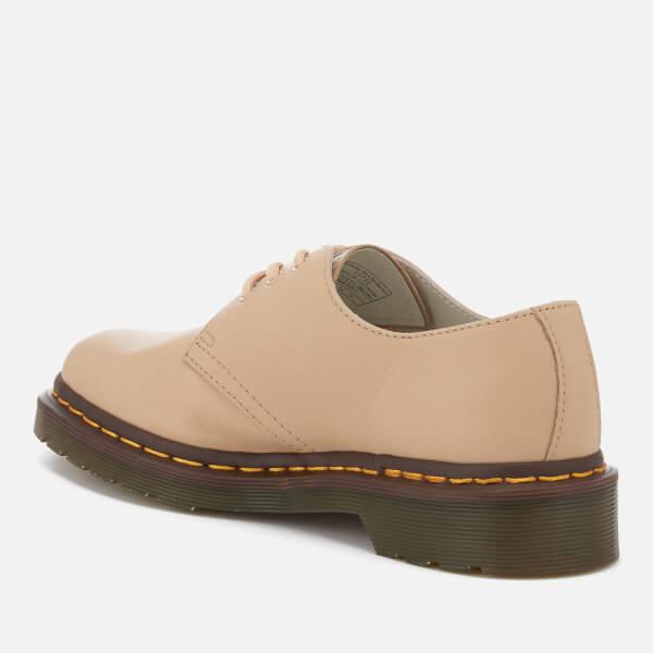 Dr. Martens Women's 1461 Virginia Leather 3-Eye Flat Shoes - Nude - UK 3 Encvs1