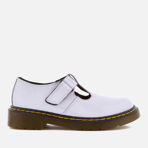 Dr. Martens Kids' Goldie Patent Lamper Leather Mary Jane Shoes - Purple Heather