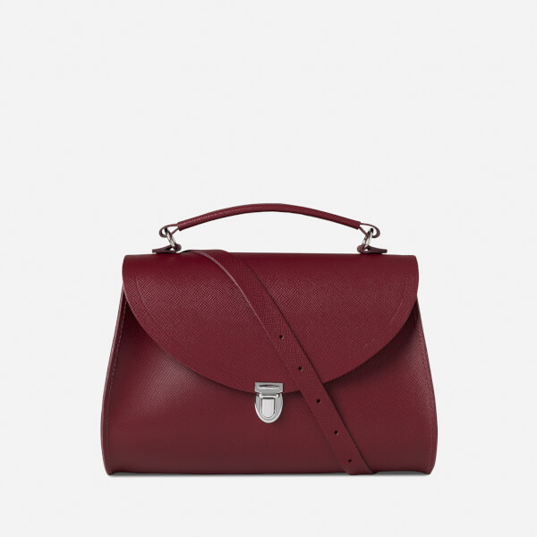 The Cambridge Satchel Company Women's Poppy Bag - Rhubarb Red Saffiano