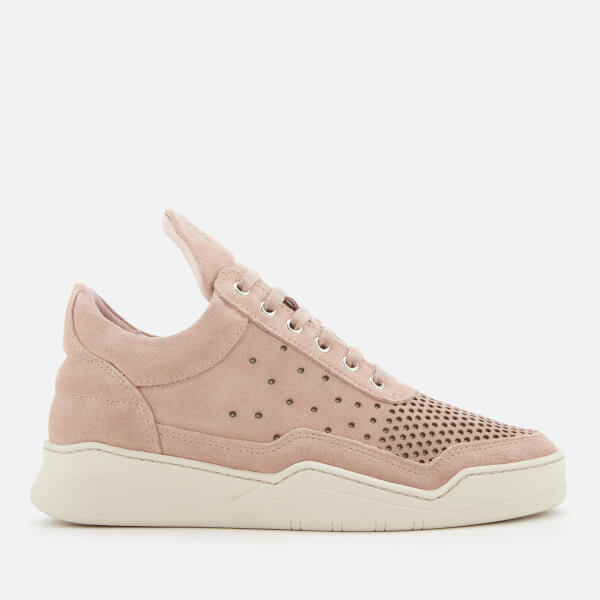 Filling pieces Women's Ghost Perforated Suede Low Top Trainers - - UK 3