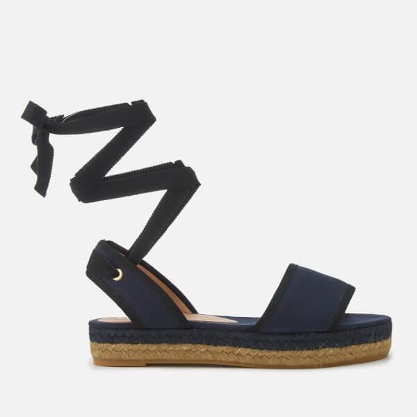 Castañer Women's Worquidea Flat Espadrille Sandals - Azul Marino