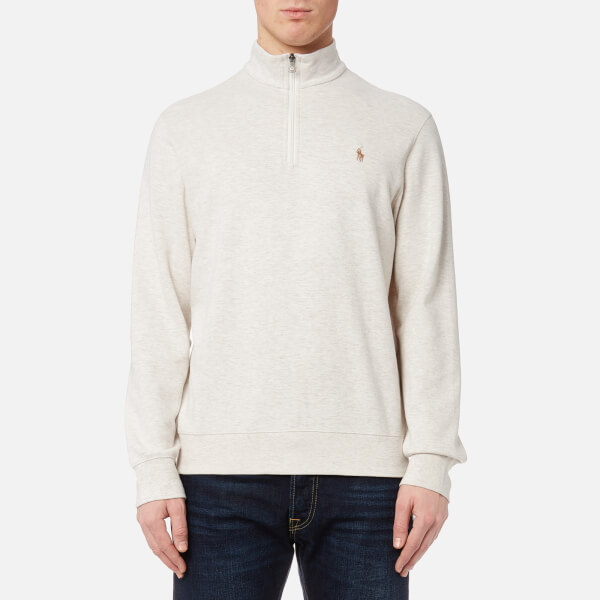 Polo Ralph Lauren Men s Half Zip Sweatshirt - American Heather  Image 1 f1689a5837