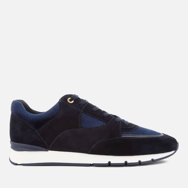 Android Homme Men's Belter 2.0 Stingray Emboss Velvet Runner Trainers - Dark Navy