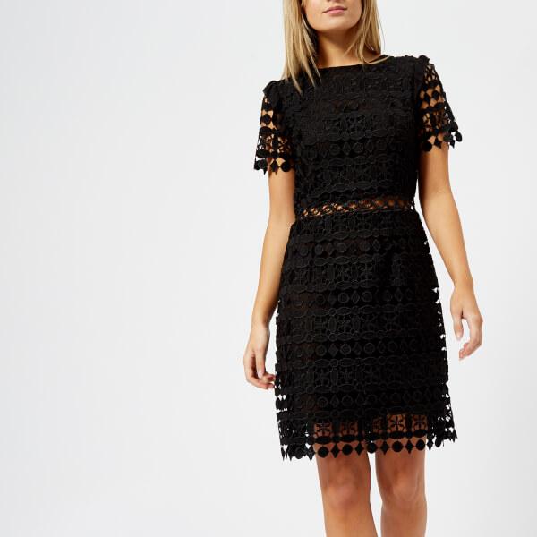 MICHAEL MICHAEL KORS Women\'s Ruffle Lace Dress - Black - Free UK ...