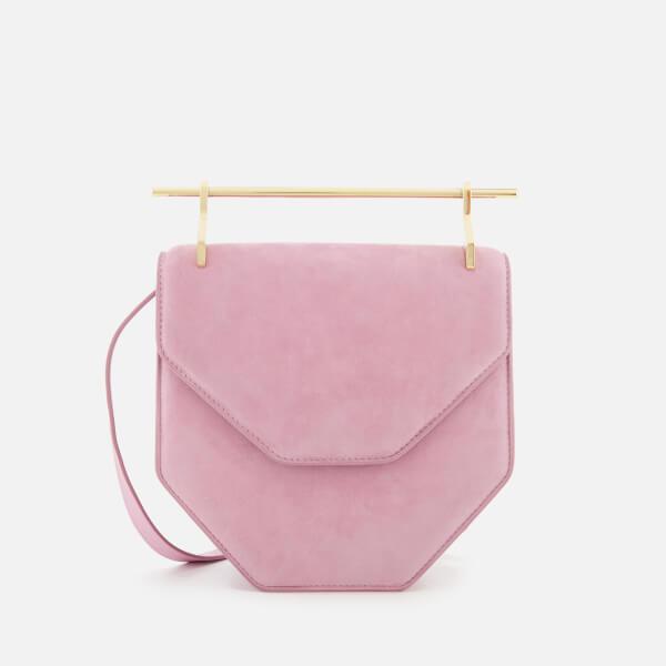 M2Malletier Women's Amor Fati Clutch Bag - Lilac Cashmere Suede/Single Gold