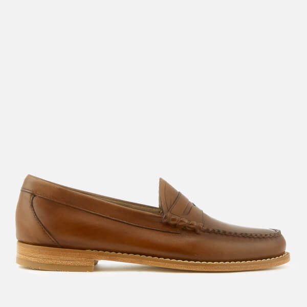 Bass Weejuns Men's Larson Burnished Leather Loafers - Mid Brown