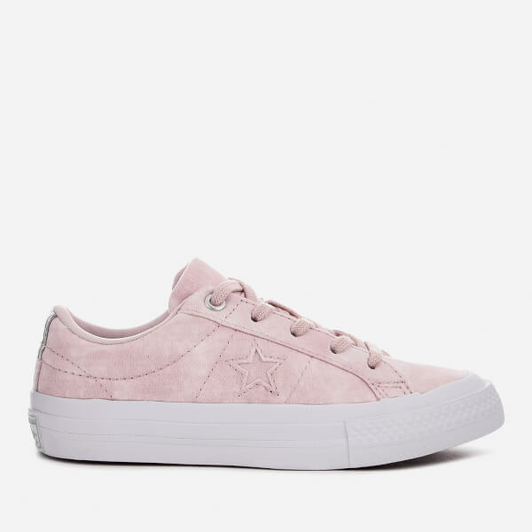 Converse Kids' One Star Ox Trainers - Barely Rose/Barely Rose/White