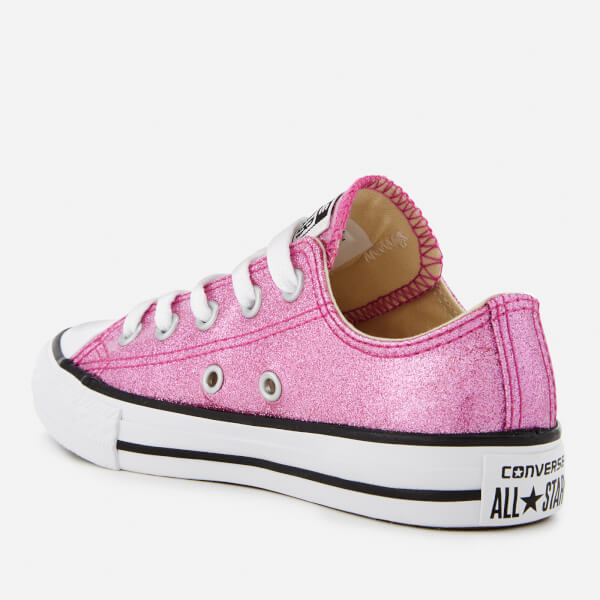 9aef499ebc5 Converse Kids  Chuck Taylor All Star Ox Trainers - Bright  Violet Natural White