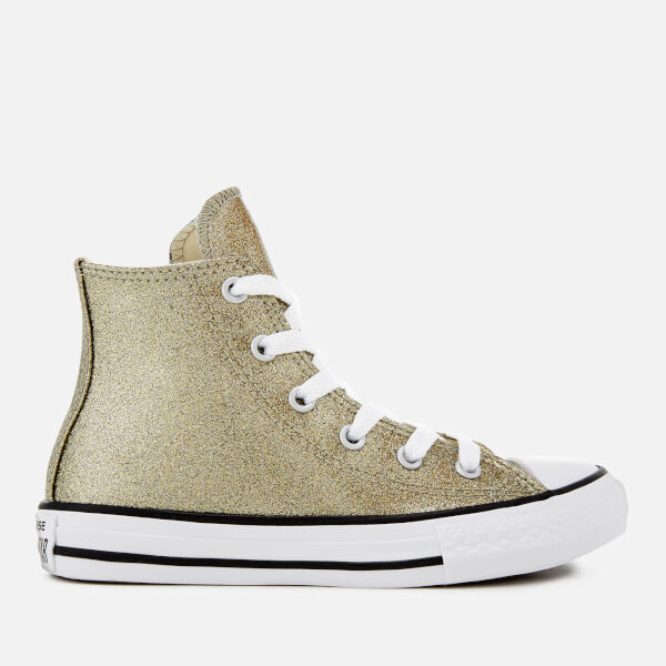 a38dc319892f8e Converse Kids  Chuck Taylor All Star Hi-Top Trainers - Gold Natural ...